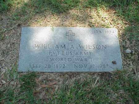 WILSON (VETERAN WWI), WILLIAM A - Pulaski County, Arkansas | WILLIAM A WILSON (VETERAN WWI) - Arkansas Gravestone Photos