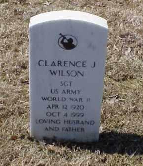WILSON (VETERAN WWII), CLARENCE J - Pulaski County, Arkansas | CLARENCE J WILSON (VETERAN WWII) - Arkansas Gravestone Photos