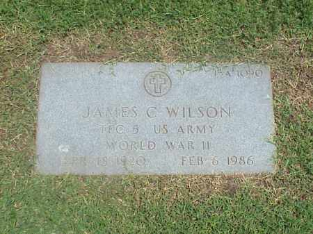 WILSON (VETERAN WWII), JAMES C - Pulaski County, Arkansas | JAMES C WILSON (VETERAN WWII) - Arkansas Gravestone Photos