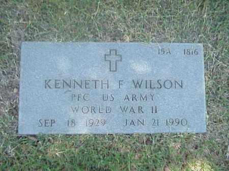 WILSON (VETERAN WWII), KENNETH F - Pulaski County, Arkansas | KENNETH F WILSON (VETERAN WWII) - Arkansas Gravestone Photos