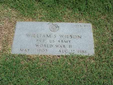 WILSON (VETERAN WWII), WILLIAM S - Pulaski County, Arkansas | WILLIAM S WILSON (VETERAN WWII) - Arkansas Gravestone Photos