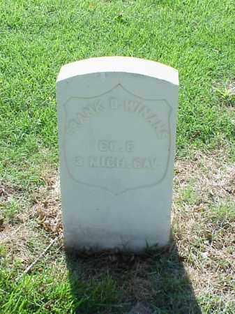 WINANS (VETERAN UNION), FRANK  D - Pulaski County, Arkansas | FRANK  D WINANS (VETERAN UNION) - Arkansas Gravestone Photos