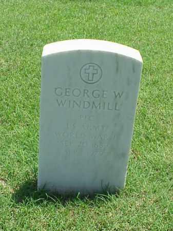 WINDMILL (VETERAN WWI), GEORGE W - Pulaski County, Arkansas | GEORGE W WINDMILL (VETERAN WWI) - Arkansas Gravestone Photos