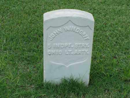 WINDORFF (VETERAN UNION), JOHN - Pulaski County, Arkansas | JOHN WINDORFF (VETERAN UNION) - Arkansas Gravestone Photos