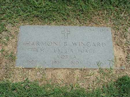 WINGARD (VETERAN KOR), HARMON B - Pulaski County, Arkansas | HARMON B WINGARD (VETERAN KOR) - Arkansas Gravestone Photos