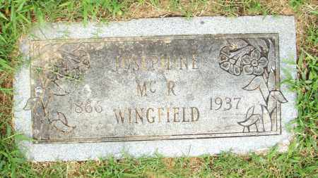 WINGFIELD, JOSEPHINE MC R. - Pulaski County, Arkansas | JOSEPHINE MC R. WINGFIELD - Arkansas Gravestone Photos