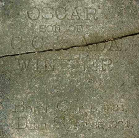 WINKLER, OSCAR (CLOSE UP) - Pulaski County, Arkansas | OSCAR (CLOSE UP) WINKLER - Arkansas Gravestone Photos