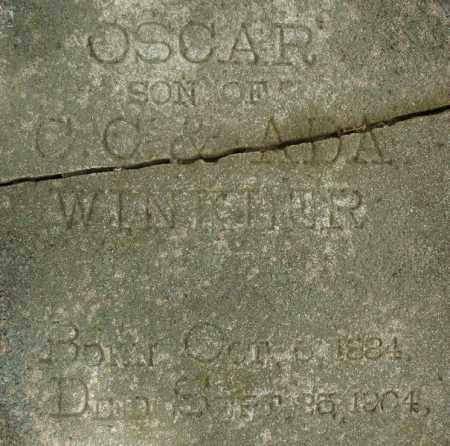 WINKLER, OSCAR (CLOSE UP) - Pulaski County, Arkansas   OSCAR (CLOSE UP) WINKLER - Arkansas Gravestone Photos
