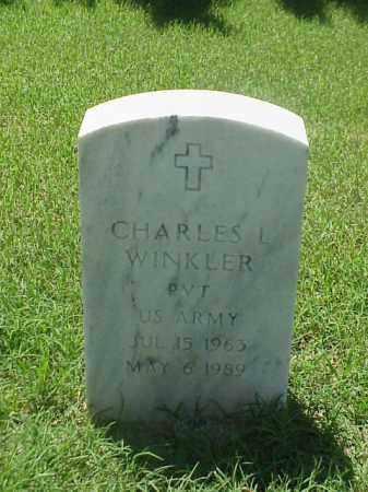 WINKLER (VETERAN), CHARLES L - Pulaski County, Arkansas | CHARLES L WINKLER (VETERAN) - Arkansas Gravestone Photos