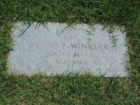 WINKLER (VETERAN WWII), CLYDE T - Pulaski County, Arkansas | CLYDE T WINKLER (VETERAN WWII) - Arkansas Gravestone Photos
