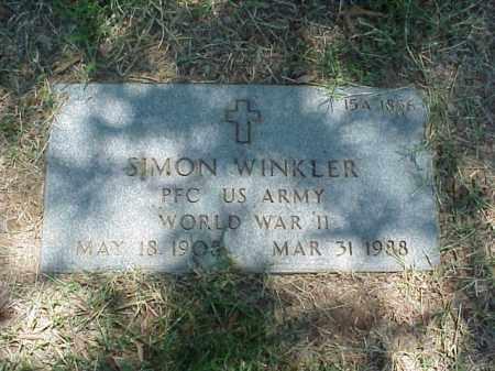 WINKLER (VETERAN WWII), SIMON - Pulaski County, Arkansas | SIMON WINKLER (VETERAN WWII) - Arkansas Gravestone Photos