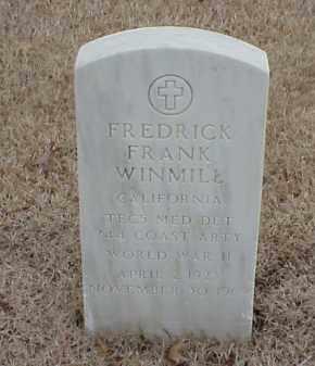 WINMILL  (VETERAN WWII), FREDRICK FRANK - Pulaski County, Arkansas | FREDRICK FRANK WINMILL  (VETERAN WWII) - Arkansas Gravestone Photos