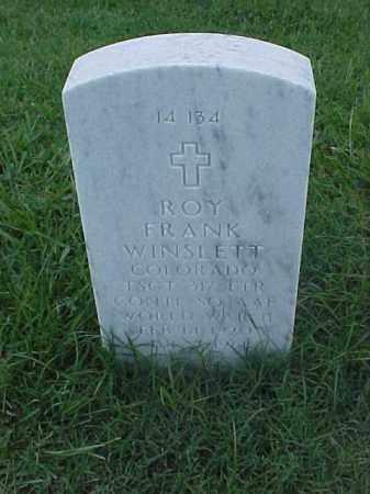 WINSLETT (VETERAN WWII), ROY FRANK - Pulaski County, Arkansas | ROY FRANK WINSLETT (VETERAN WWII) - Arkansas Gravestone Photos