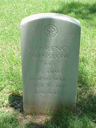 WINSLOW (VETERAN WWI), CLARENCE - Pulaski County, Arkansas | CLARENCE WINSLOW (VETERAN WWI) - Arkansas Gravestone Photos