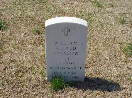 WINSLOW (VETERAN WWII), WILLIAM ALFRED - Pulaski County, Arkansas | WILLIAM ALFRED WINSLOW (VETERAN WWII) - Arkansas Gravestone Photos