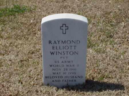 WINSTON (VETERAN WWII), RAYMOND ELLIOTT - Pulaski County, Arkansas | RAYMOND ELLIOTT WINSTON (VETERAN WWII) - Arkansas Gravestone Photos