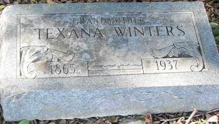 WINTERS, TEXANA - Pulaski County, Arkansas | TEXANA WINTERS - Arkansas Gravestone Photos