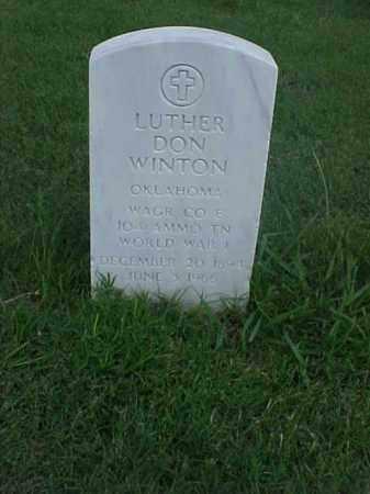 WINTON (VETERAN WWI), LUTHER DON - Pulaski County, Arkansas | LUTHER DON WINTON (VETERAN WWI) - Arkansas Gravestone Photos