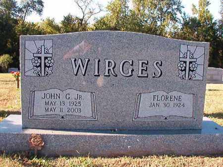WIRGES, JR, JOHN G - Pulaski County, Arkansas | JOHN G WIRGES, JR - Arkansas Gravestone Photos