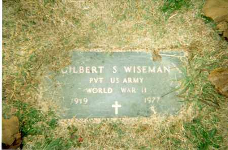 WISEMAN (VETERAN WWII), GILBERT SMITH - Pulaski County, Arkansas | GILBERT SMITH WISEMAN (VETERAN WWII) - Arkansas Gravestone Photos