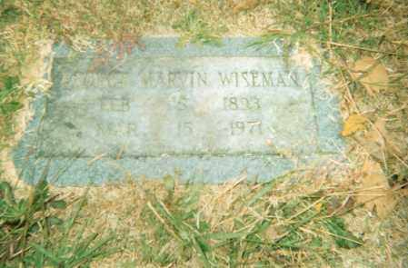 WISEMAN, GEORGE MARVIN - Pulaski County, Arkansas | GEORGE MARVIN WISEMAN - Arkansas Gravestone Photos