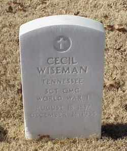 WISEMAN (VETERAN WWI), CECIL - Pulaski County, Arkansas | CECIL WISEMAN (VETERAN WWI) - Arkansas Gravestone Photos