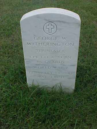 WITHERINGTON (VETERAN WWI), GEORGE W - Pulaski County, Arkansas | GEORGE W WITHERINGTON (VETERAN WWI) - Arkansas Gravestone Photos