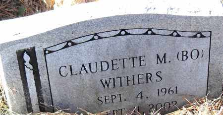 WITHERS, CLAUDETTE M  (BO) - Pulaski County, Arkansas | CLAUDETTE M  (BO) WITHERS - Arkansas Gravestone Photos