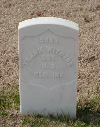 WITHERS (VETERAN UNION), FRANK - Pulaski County, Arkansas | FRANK WITHERS (VETERAN UNION) - Arkansas Gravestone Photos
