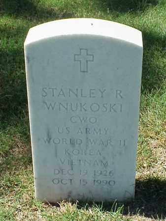 WNUKOSKI (VETERAN 3 WARS), STANLEY R - Pulaski County, Arkansas | STANLEY R WNUKOSKI (VETERAN 3 WARS) - Arkansas Gravestone Photos