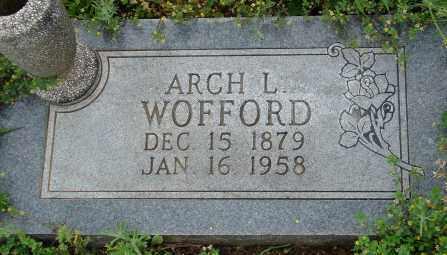 WOFFORD, ARCH L. - Pulaski County, Arkansas | ARCH L. WOFFORD - Arkansas Gravestone Photos