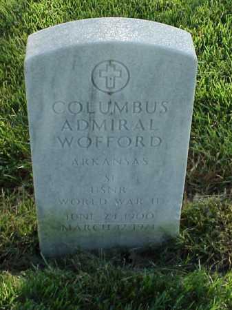 WOFFORD (VETERAN WWII), COLUMBUS ADMIRAL - Pulaski County, Arkansas | COLUMBUS ADMIRAL WOFFORD (VETERAN WWII) - Arkansas Gravestone Photos