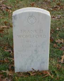 WOHLFORD (VETERAN WWI), FRANK J - Pulaski County, Arkansas | FRANK J WOHLFORD (VETERAN WWI) - Arkansas Gravestone Photos