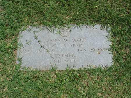 WOLF, ESTER - Pulaski County, Arkansas | ESTER WOLF - Arkansas Gravestone Photos
