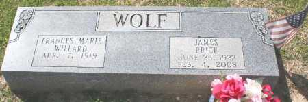 BRIDGES WOLF, FRANCES - Pulaski County, Arkansas | FRANCES BRIDGES WOLF - Arkansas Gravestone Photos