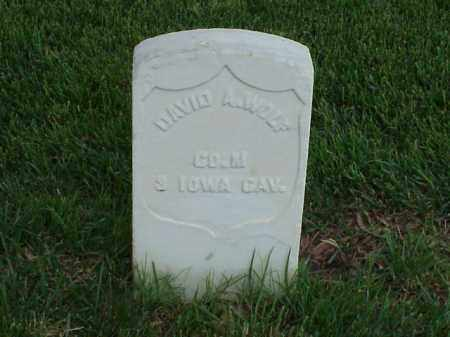 WOLF (VETERAN UNION), DAVID - Pulaski County, Arkansas | DAVID WOLF (VETERAN UNION) - Arkansas Gravestone Photos