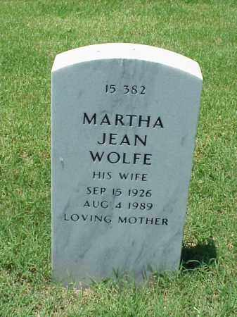 WOLFE, MARTHA JEAN - Pulaski County, Arkansas | MARTHA JEAN WOLFE - Arkansas Gravestone Photos
