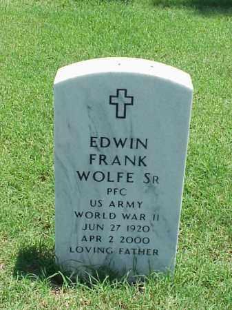 WOLFE, SR (VETERAN WWII), EDWIN FRANK - Pulaski County, Arkansas | EDWIN FRANK WOLFE, SR (VETERAN WWII) - Arkansas Gravestone Photos