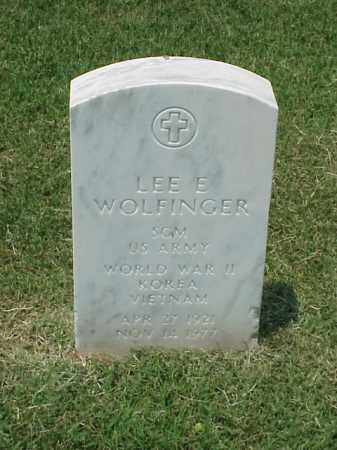 WOLFINGER (VETERAN 3 WARS), LEE E - Pulaski County, Arkansas | LEE E WOLFINGER (VETERAN 3 WARS) - Arkansas Gravestone Photos
