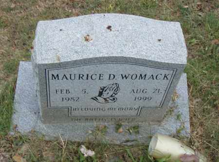 WOMACK, MAURICE D. - Pulaski County, Arkansas | MAURICE D. WOMACK - Arkansas Gravestone Photos