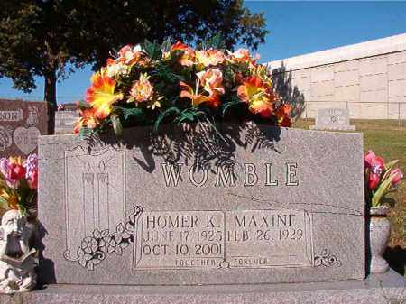 WOMBLE, HOMER K - Pulaski County, Arkansas | HOMER K WOMBLE - Arkansas Gravestone Photos