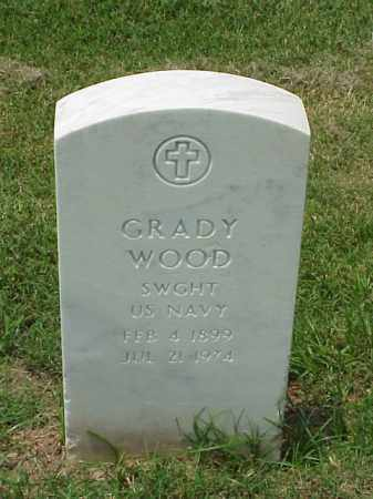 WOOD (VETERAN WWI), GRADY - Pulaski County, Arkansas | GRADY WOOD (VETERAN WWI) - Arkansas Gravestone Photos