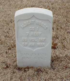 WOODS  (VETERAN SAW), ALBERT - Pulaski County, Arkansas | ALBERT WOODS  (VETERAN SAW) - Arkansas Gravestone Photos