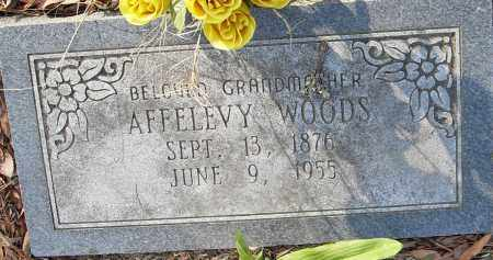 WOODS, AFFELEVY - Pulaski County, Arkansas | AFFELEVY WOODS - Arkansas Gravestone Photos