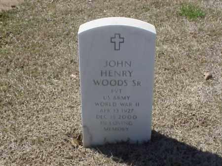 WOODS, SR (VETERAN WWII), JOHN HENRY - Pulaski County, Arkansas | JOHN HENRY WOODS, SR (VETERAN WWII) - Arkansas Gravestone Photos