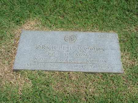 WOODS (VETERAN 2 WARS), ORVILLE L - Pulaski County, Arkansas | ORVILLE L WOODS (VETERAN 2 WARS) - Arkansas Gravestone Photos