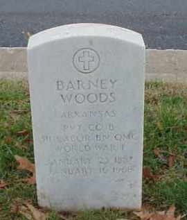 WOODS (VETERAN WWI), BARNEY - Pulaski County, Arkansas | BARNEY WOODS (VETERAN WWI) - Arkansas Gravestone Photos