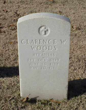 WOODS (VETERAN WWI), CLARENCE W - Pulaski County, Arkansas | CLARENCE W WOODS (VETERAN WWI) - Arkansas Gravestone Photos