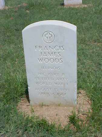 WOODS (VETERAN WWI), FRANCIS JAMES - Pulaski County, Arkansas | FRANCIS JAMES WOODS (VETERAN WWI) - Arkansas Gravestone Photos