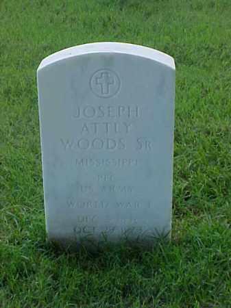WOODS, SR (VETERAN WWI), JOSEPH ATTLY - Pulaski County, Arkansas | JOSEPH ATTLY WOODS, SR (VETERAN WWI) - Arkansas Gravestone Photos